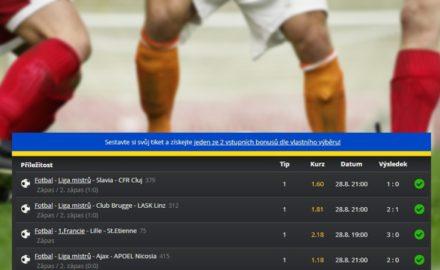 Tikety týdne: Slavia postoupila do milionářské Champions League! Kolik sázkařů na tom vydělalo balík?