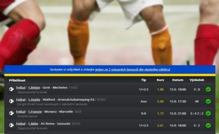 Je tohle TOP tiket roku?! Sázkař oškubal Tipsport téměř o 1 milion korun!